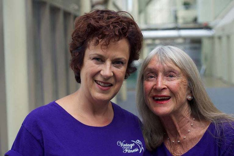 Senior personal trainers Wendy and Dee