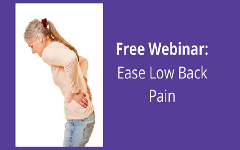 Free webinar on April 14 at 11:00am to alleviate your back pain