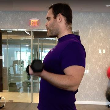 How to do the perfect bicep curl and lateral shoulder raise