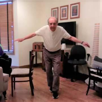 Tony's Balance Has Improved During CoVid Isolation with Virtual Personal Training