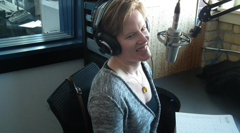 Erin at Ward and Al radio Show talking about online personal training for adults 50 plus