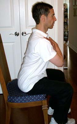 Seated abdominal work - After walk exercises