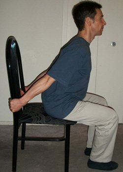 Seated chest stretch - After walk exercises