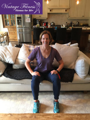 Can't easily get up from a low soft sofa? The following exercises will help you