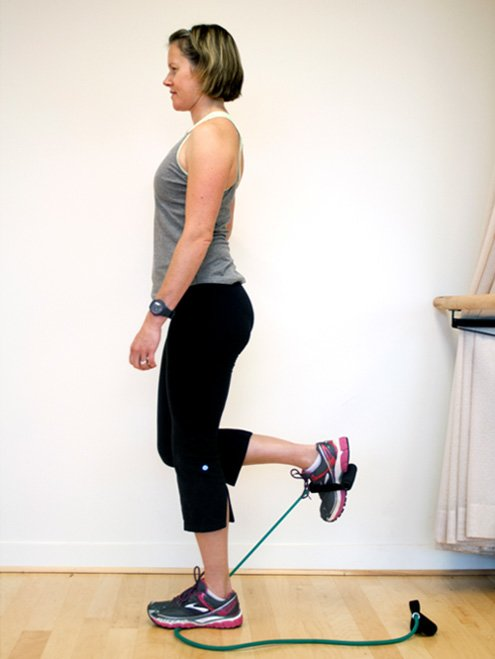 Exercises for discomfort in lower backs and backs of legs.