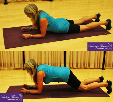 Plank from knees