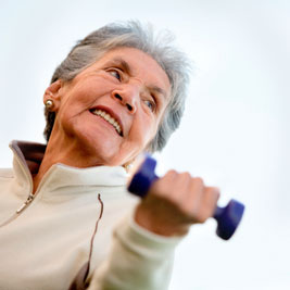 Senior woman working out