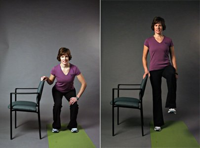 Squat with balance exercise